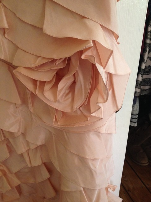 Rickie Freeman for Teri Jon Mermaid Ruffle Strapless Sweetheart Rose Pink Blush Mother Of The Bride Wedding Mob Bridesmaid Ruching Saks 5th Dress