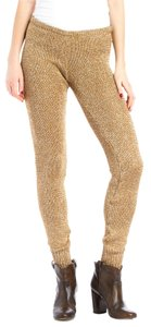 Missoni Metallic Knit Gold Leggings