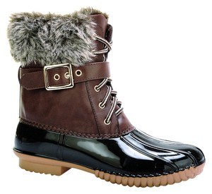 Red Circle Footwear Bootie Casual Lace Up Boot Brown Boots