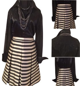 Black & White is such a Delight with Halogen Puff Skirt Skirt Black and White