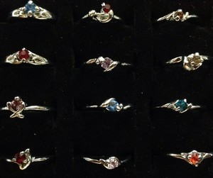 Other New silverplated rhinestone rings multiple sizes 7.58