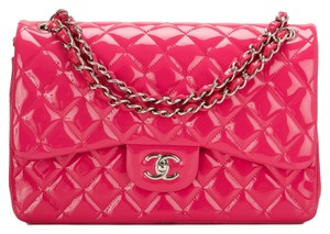 Chanel Jumbo Pink Patent New Shoulder Bag