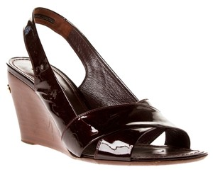Louis Vuitton Patent Leather brown Wedges