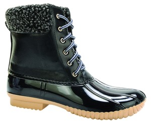 Red Circle Footwear Casual Lace Up Fall Winter Black Boots