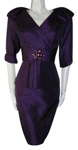 Jessica Howard Evening Cocktail Dress in Aubergine -- New with Tag Dress