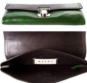 Marni Hunter Green Black green/black Clutch