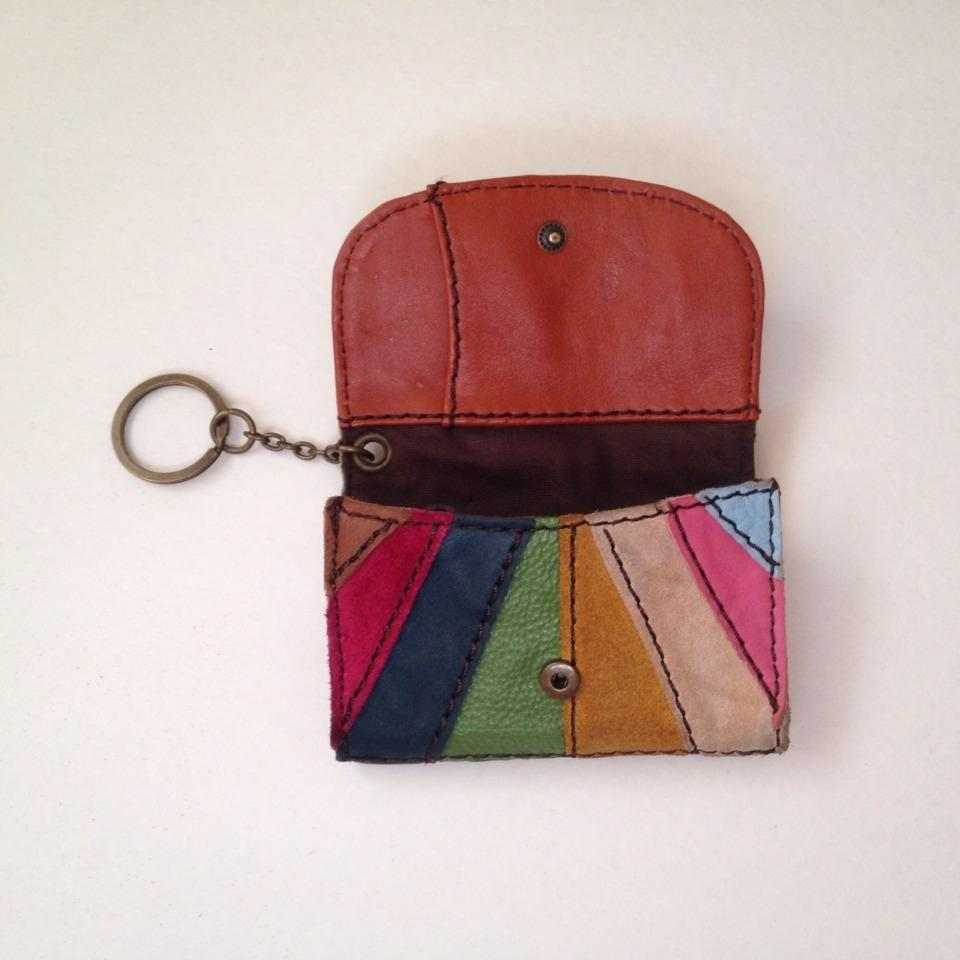 Lucky Brand Multicolor Leather Strip Key Card Case Wallet 57% off retail