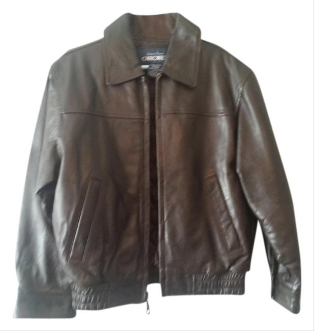 Authentic Original CHEROKEE Leather Brown Leather Jacket