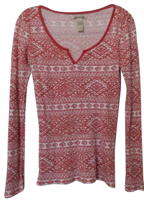 Preload https://img-static.tradesy.com/item/8322661/lucky-brand-orange-to-red-and-white-cotton-thermal-long-sleeve-shirt-sweaterpullover-size-8-m-0-3-650-650.jpg