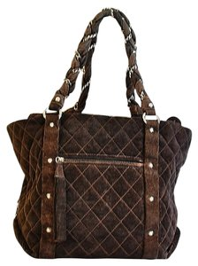 Chanel Suede Tote in Dark Brown