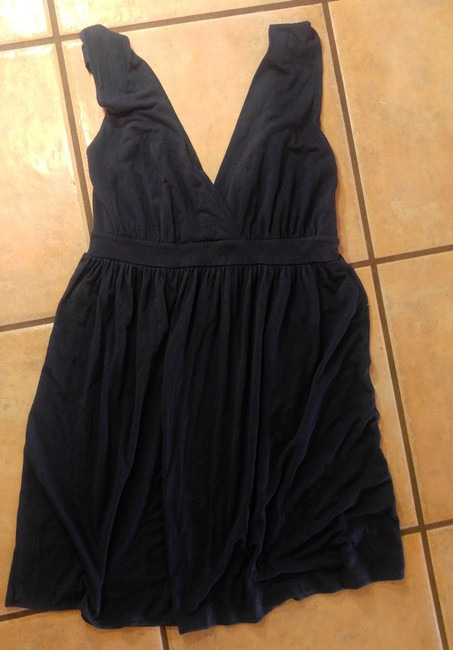 Banana Republic short dress NAVY Stretchy Knee Length Size Small on Tradesy