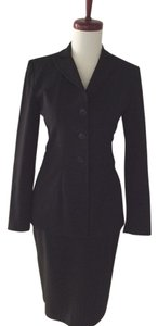 Blue Epic Epic New York Hourglass Black Skirt Suit