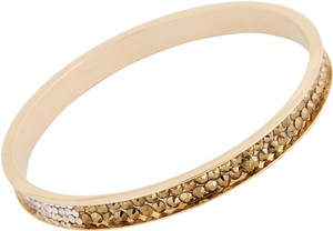 Chamak by Priya Kakkar Fabulous Rose Gold Bangle Topaz White Silver Crystal Studded New