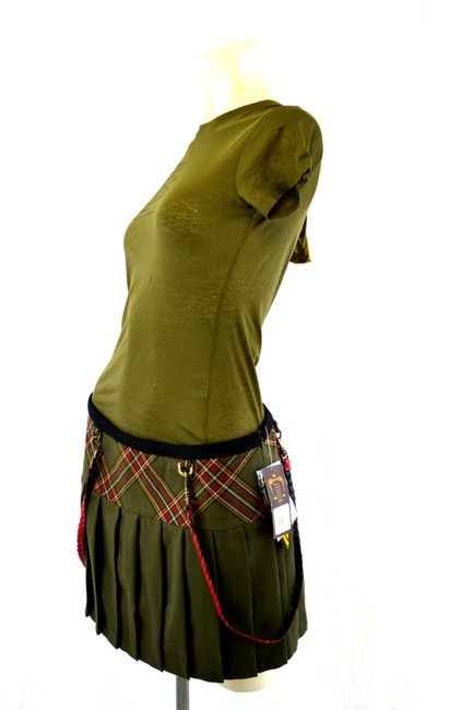 Love angel music baby Mini Skirt Olive Green