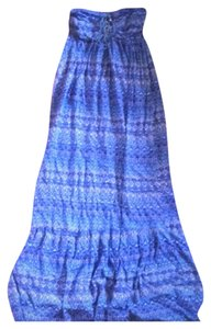 Blue Maxi Dress by To Posh Womens Long Maxi Tied Full Length Strapless Small