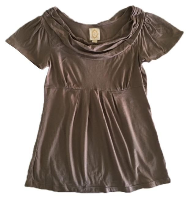 Item - Rosy Taupe Cowl Neck Tee Shirt Size 4 (S)