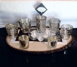 West Elm Silver Holders All Sizes 16 In Set Votive/Candle