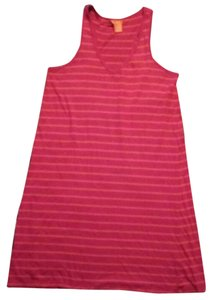 Joe Fresh short dress Pink & Orange Womens Striped Medium on Tradesy