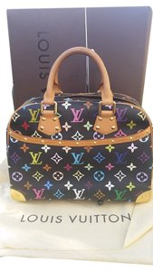Louis Vuitton Trouville Satchel in Black / Multicolor