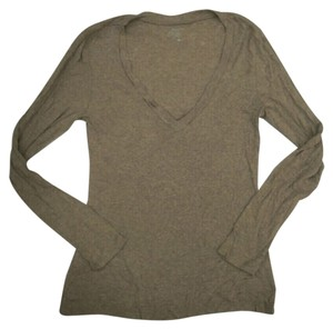 Old Navy Womens Long Sleeve V-neck Shirt Large Top Light Brown