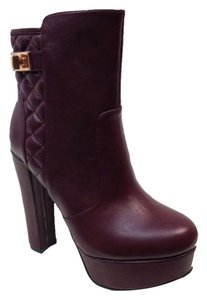 Bamboo Burgundy Maroon Leather Wine oxblood Boots