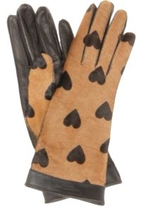Burberry Prorsum SALE BURBERRY PRORSUM Heart-print calf hair gloves