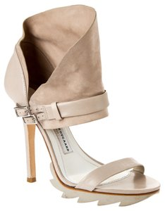 Camilla Skovgaard Heels Suede Leather High Taupe/grey Sandals