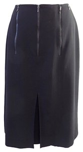 Chanel Zip Detail Skirt Black