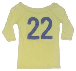 Hollister Lime Womens Shirt Top Yellow