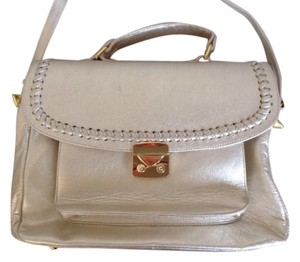 Below the Belt Lear Satchel in Platinum