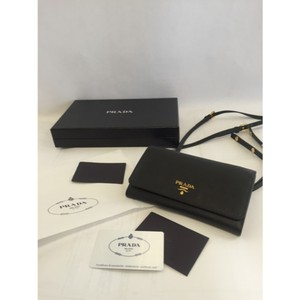 prada bow clutch ombre gradient pink black leather zip glace bag silver gold