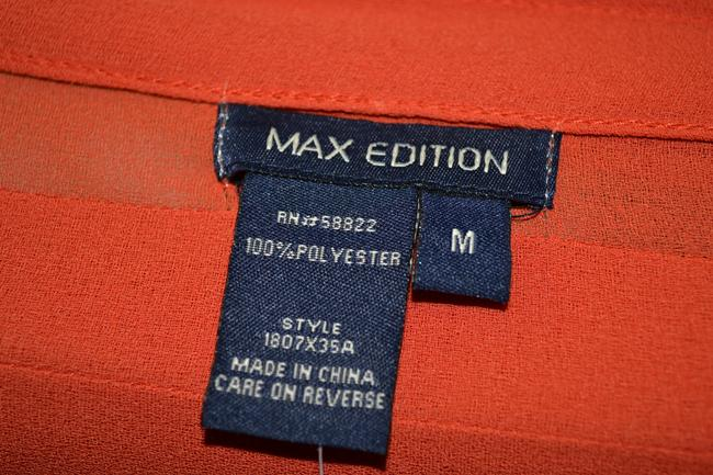 Max Studio Max Edition Blouse and printed Kelly & Diane side pleated skirt size 12