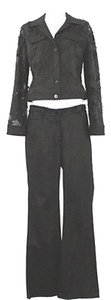 Margaret M MARGARET M. APPLIQUED BLACK PANT SUIT 2