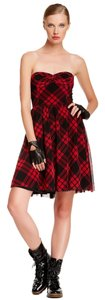 Betsey Johnson short dress Red New With Tags Designer Size 12 Strapless on Tradesy