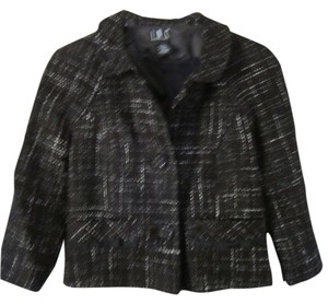 INC International Concepts Short Black Lined BLACK/WHITE Jacket