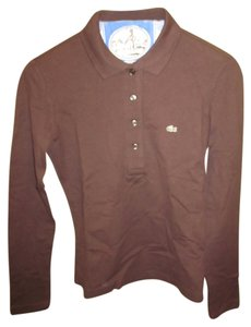Lacoste Long Sleeve T Shirt Brown