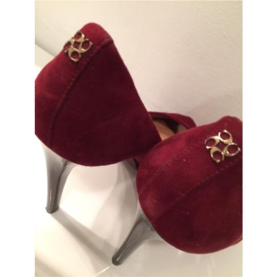 Coach Burgundy Platforms