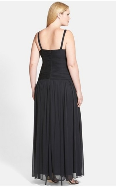 Adrianna Papell Black Plus Long Formal Dress Size 14 L Tradesy