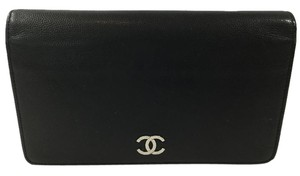 Chanel Black Bifold Leather Wallet
