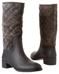 Chanel Quilted Black/Charcoal Boots
