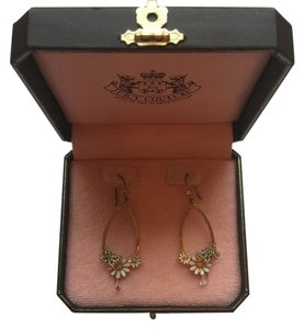 Juicy Couture Juicy Couture Floral Drop Hoop Earrings