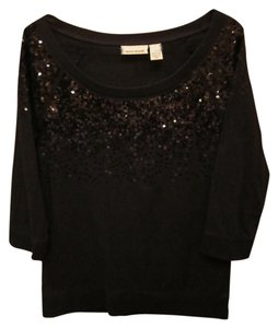 DKNY Sparkle 3/4 Pullover Sweater