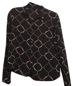 New York & Company Top Black/white
