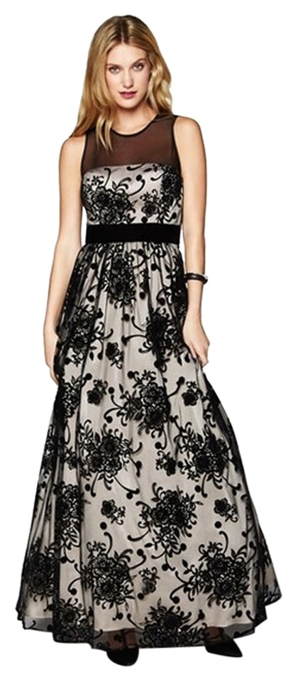 Eliza J Black Illusion Gown Long Formal Dress
