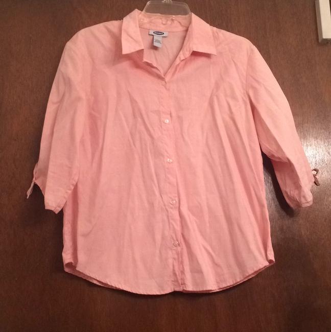 Old Navy Button Down Shirt Peach