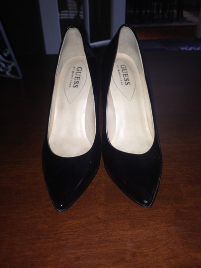 Guess Patent Leather Dark Brown/Black Pumps
