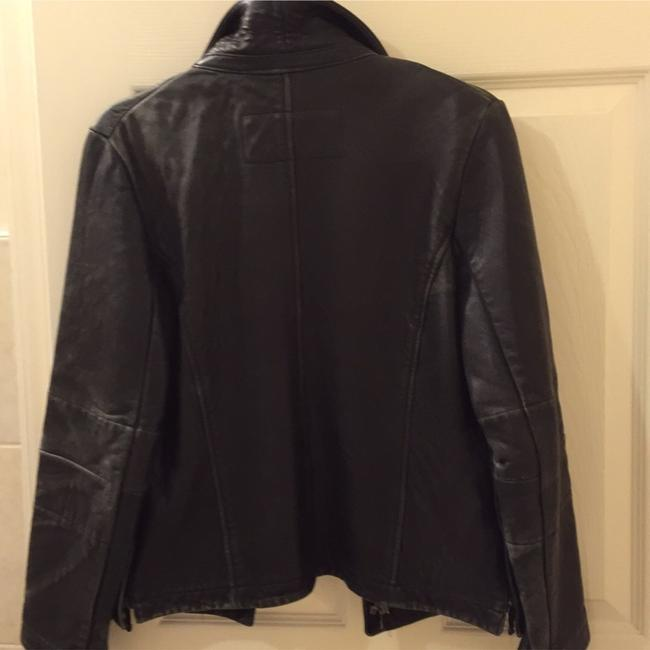 Kenneth Cole Reaction Blac Leather Jacket