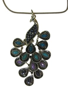 Other EMBELLISHED PEACOCK PENDANT NECKLACE