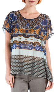 Clover Canyon Sheer Top Multi Printed