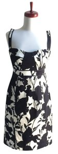 Elie Tahari Black Floral Dress